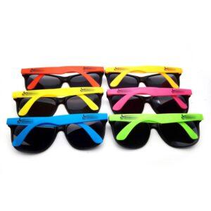 zonnebril bedrukken gekleurde pootjes
