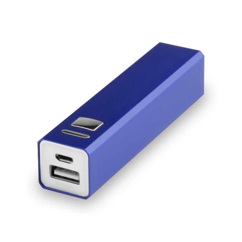 Premium Metal Powerbank 2600 mAh - blauw