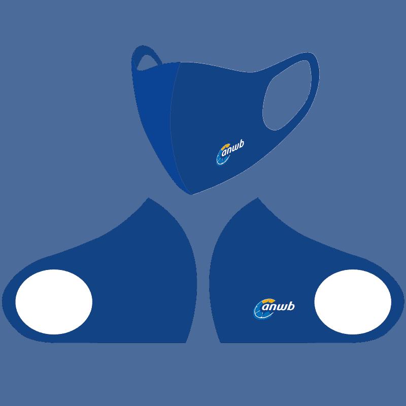 Herbruikbare Mondkapjes bedrukken - ANWB blauw