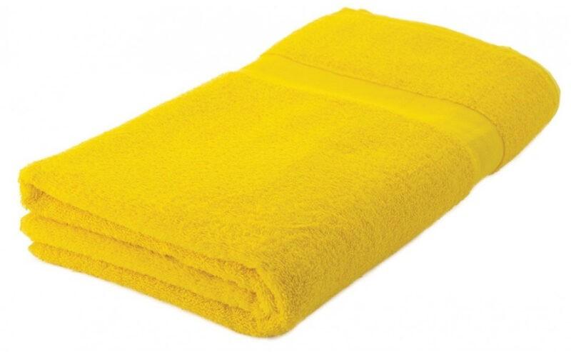 Strandlaken bedrukken geel