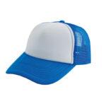Trucker caps bedrukken lichtblauw-wit