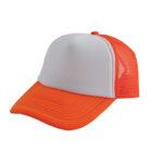 Trucker caps bedrukken oranje-wit