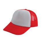 Trucker caps bedrukken rood-wit