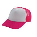 Trucker caps bedrukken roze-wit