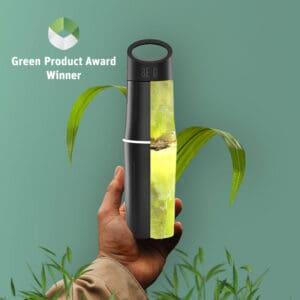 BE O bottle bedrukken Green product award